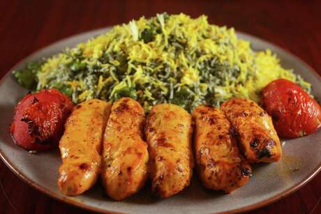 Chicken Chenjeh Kabob at Avesta Persian Grill