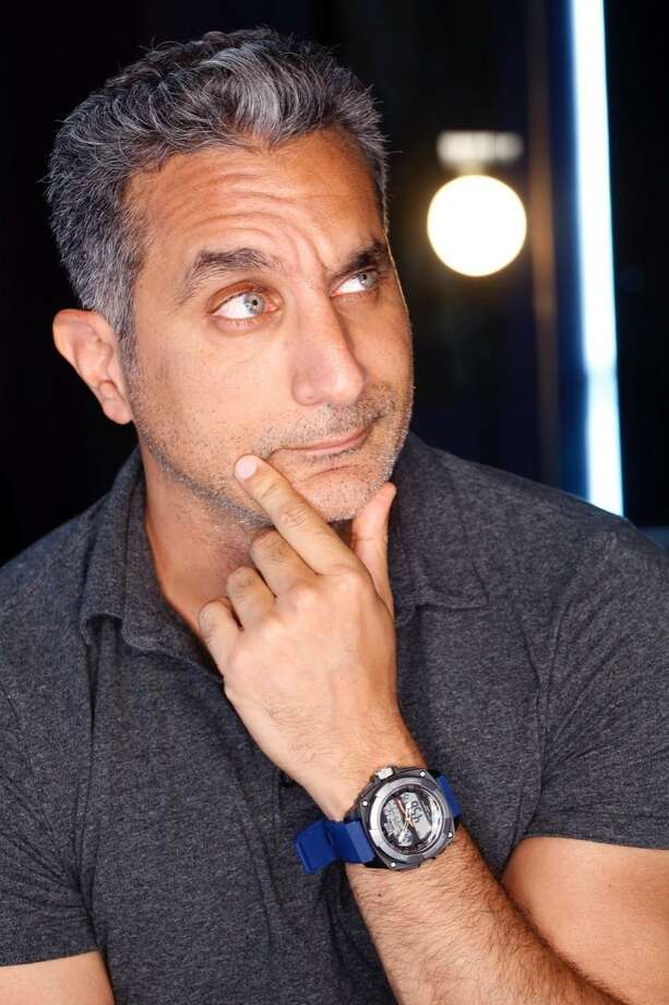 Egyptian Bassem Youssef mugs it up for a photographer. Photo: Jonas PR / Contributed Photo