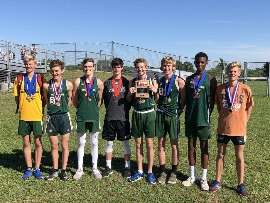 The Woodlands Christian Academy boys track and field team won the TAPPS Class 4A South Region championship over the weekend. Photo: Submitted Photo