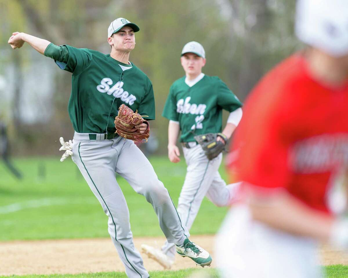 Shenendehowa third basemen Jake Reinisch and his teammates missed out on a shot at making another deep state playoff run in 2020 when high school sports was shut down because of the coronavirus pandemic. (Jim Franco / Times Union archive)