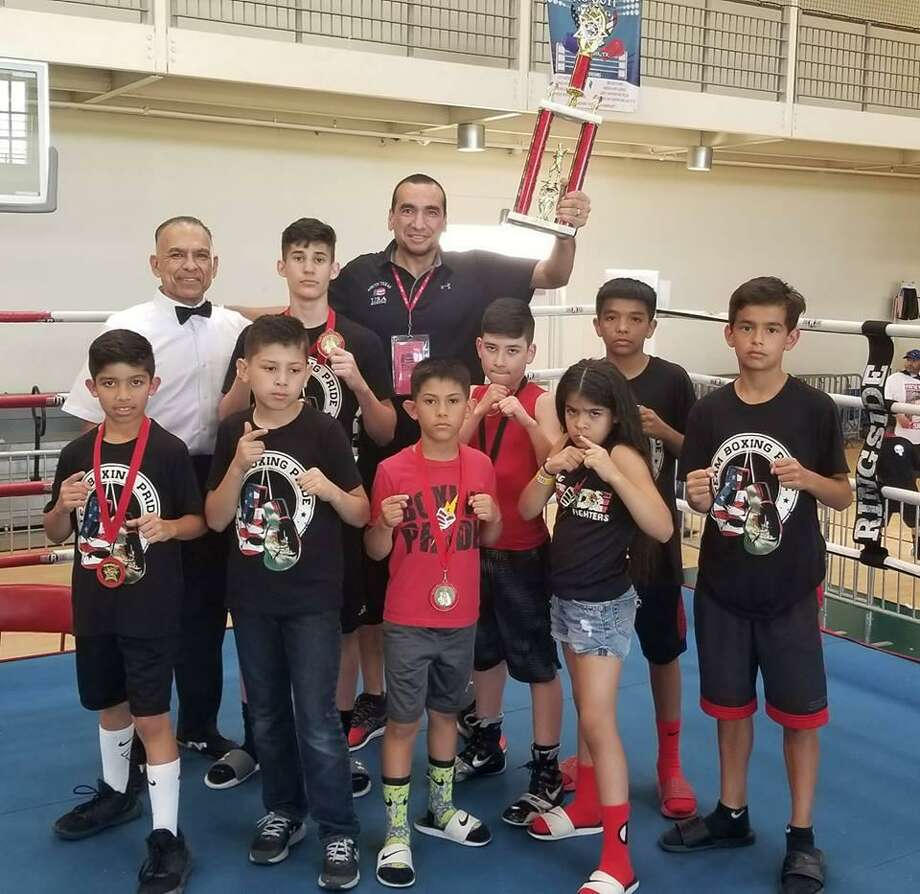 Boxing Pride Fitness won the team trophy for the third straight year at the South Texas Junior Olympics after winning four title bouts and adding three unopposed champions. Photo: Courtesy Photo