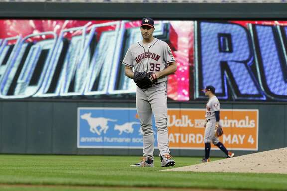 A single long ball sent Justin Verlander, who has 20 career victories over the Twins, to a 1-0 defeat Monday night at Target Field.