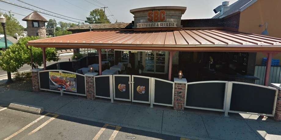 """A 42-year-old Milford woman was arrested after alllegedly fighting with staff at SBC Restaurant on New Haven Avenue on Monday, April 29, 2019. Michelle Scott, of Jepson Drive, is also accused of striking an officer in the face """"with her purse and closed fists."""" Photo: Google Street View Image"""