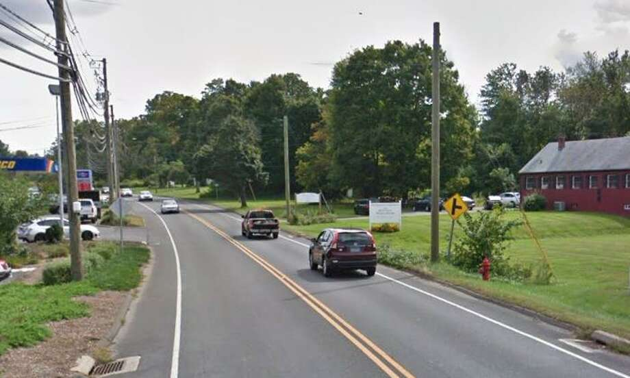 George Geanuracos, of Newtown, crashed his 1968 Ford Mustang while heading southbound on South Main Street on April 21. Photo: Google Maps / Google