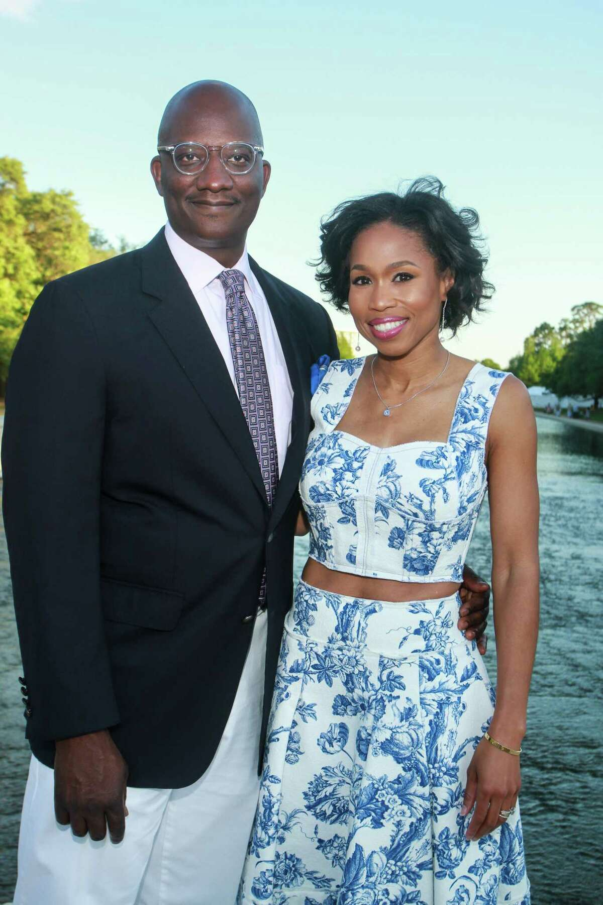 Derrick Mitchell and Roslyn Bazzelle Mitchell at Hermann Park's annual Evening in the Park.