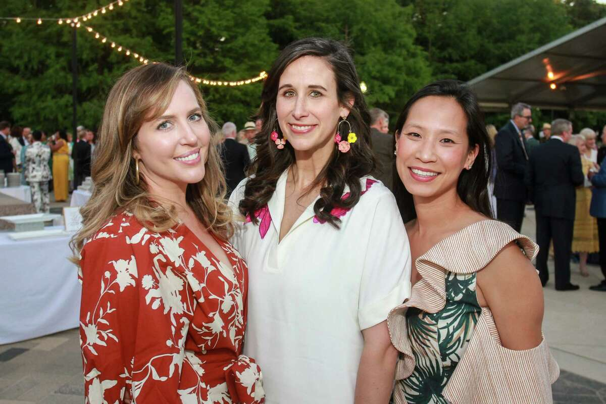 Mary Patton, from left, Rachel Solar and Janae Tsai at Hermann Park's annual Evening in the Park.
