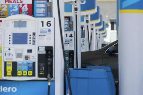 Rising oil prices and geopolitical uncertainty could push up gasoline prices further in 2019. This photo shows fuel at a station along Interstate 45 South in Houston, Thursday, April 25, 2019.