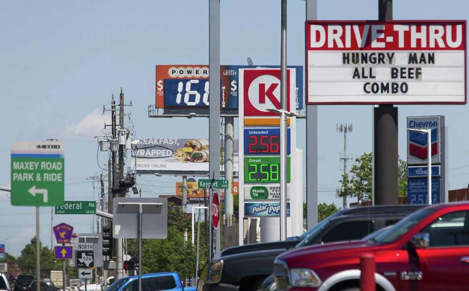 Gas is for sale along Interstate 45 South in Houston, Thursday, April 25, 2019. NEXT: See gasoline prices in Texas biggest cities.  Photo: Mark Mulligan, Houston Chronicle / Staff Photographer / © 2019 Mark Mulligan / Houston Chronicle