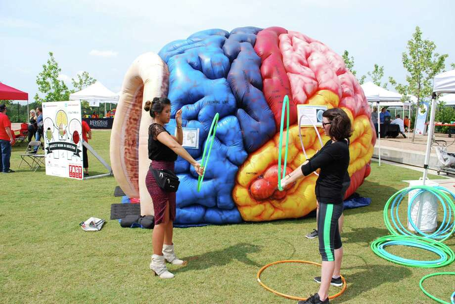 The Stomp Out Stroke Festival will be held at Discovery Green on Saturday, May 4. There will be lots of hands on activities for both kids and adults, including games and an inflatable brain and heart. Photo: UTHealth