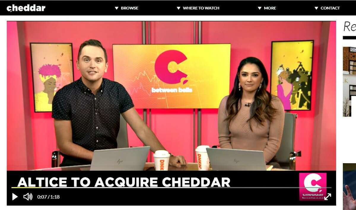 Cable operator Altice USA is buying out its fellow investors in the Cheddar online news platform for $200 million, adding global news geared toward young adults to its existing News 12 and i24News operations in the New York City region. (Screenshot via Cheddar)