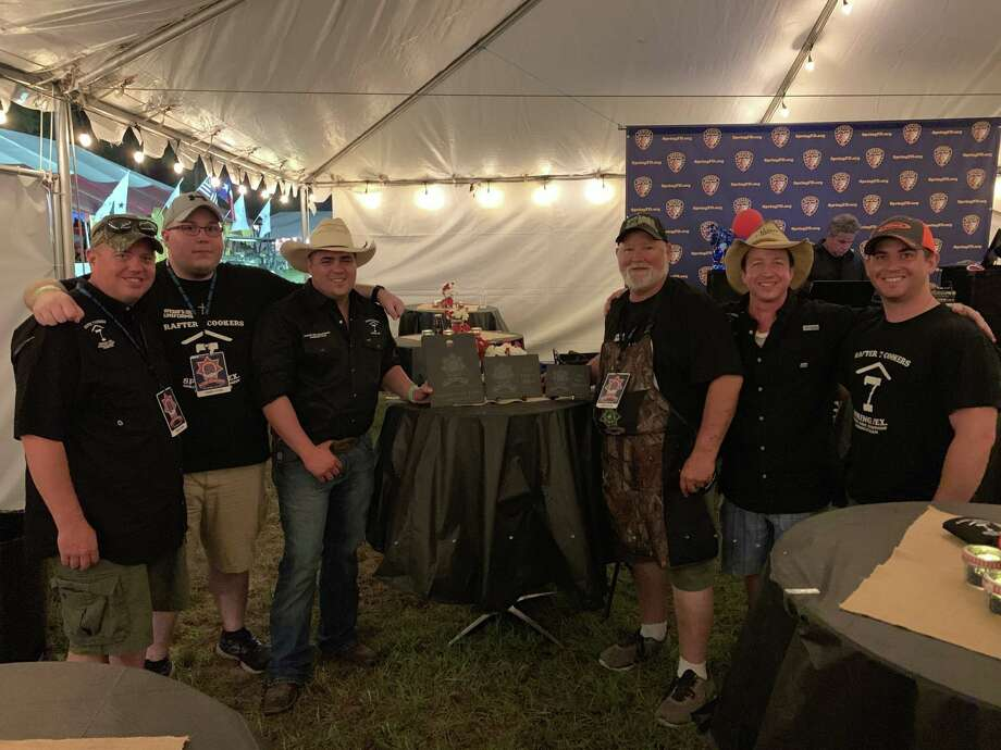 The Spring Fire Department cooking team won three awards at the 2019 Wild Game Charity Cook-Off in Cypress. From left to right: Deputy Chief Scott Schoonover, Tim Burke, Captain Tim Weiman, Will Bankhead, Richard Demko and Kevin Wise. Photo: Courtesy Of The Spring Fire Department