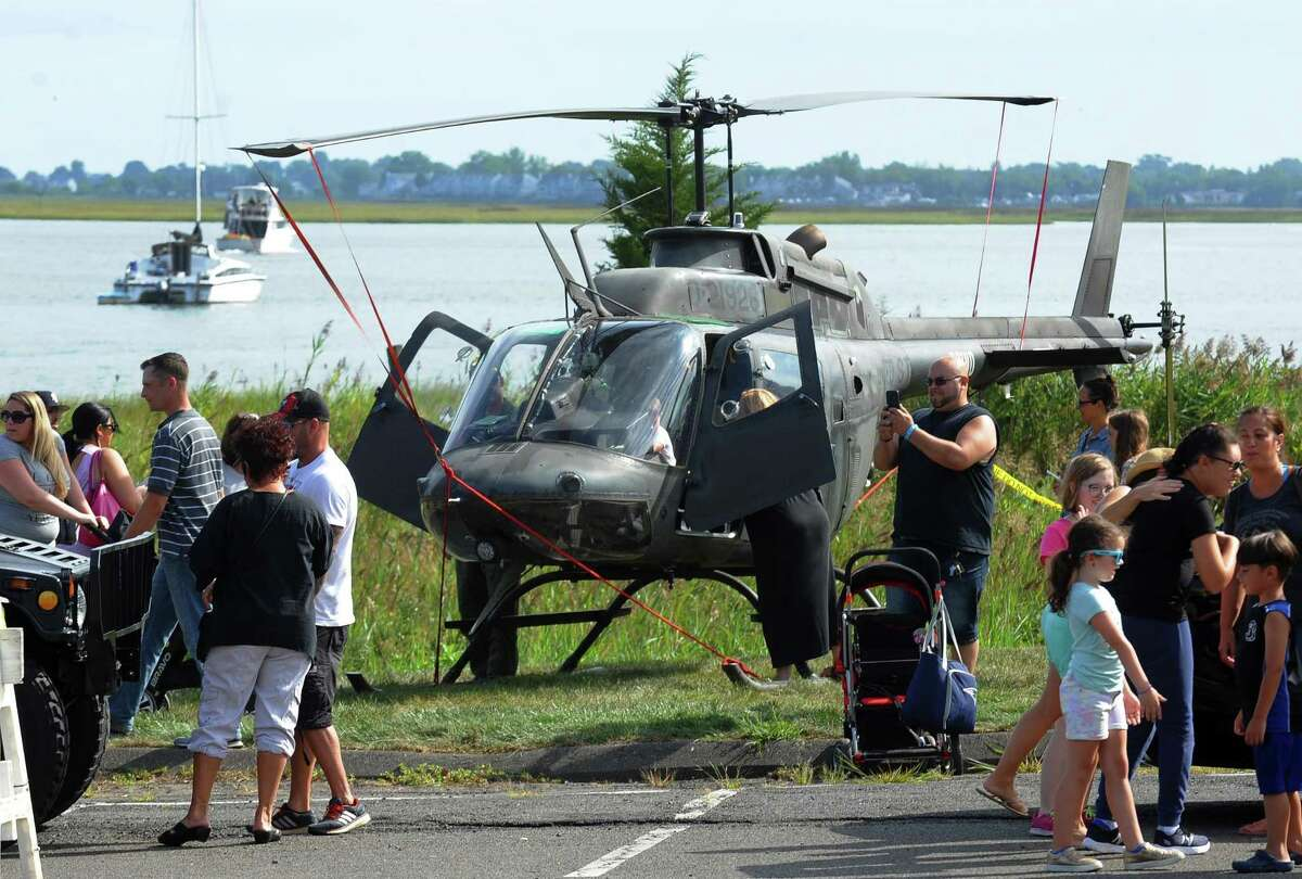 A Kiowa helicopter on display in September 2018 in Stratford, Conn. that is used by the city's police department. In April 2019, Stratford-based Sikorsky Aircraft won a $938 million award from the U.S. Department of Defense to design an armed scout helicopter to perform reconnaissance missions for which the U.S. Army long relied on the Kiowa.