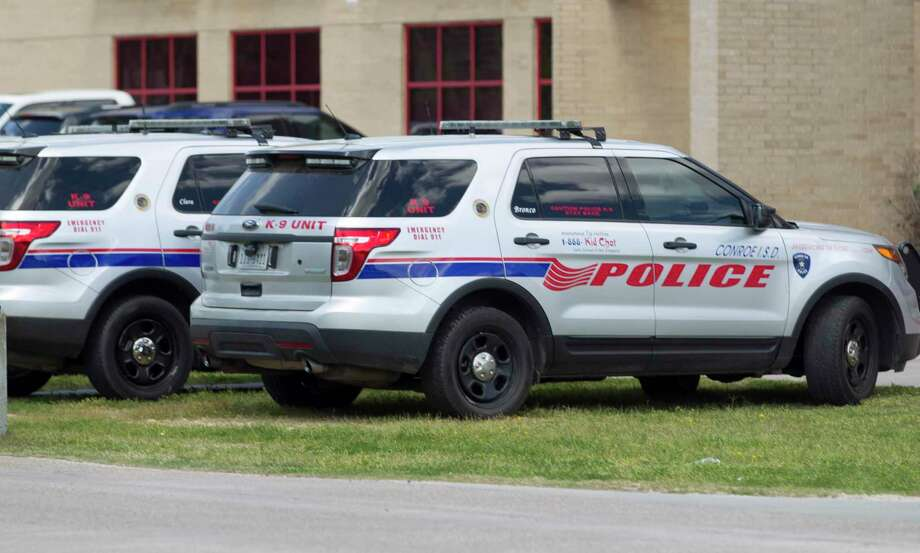 In the past five years, there have been just over 1,000 fights to occur on Conroe ISD campuses, which often happen in the hallway between classes or before or after the bells ring. Here, Conroe ISD police vehicles are seen outside Oak Ridge High School, Friday, March, 23, 2018. Photo: Jason Fochtman, Staff Photographer / Houston Chronicle / © 2018 Houston Chronicle