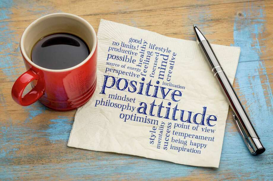 positive attitude word cloud - handwriting on a napkin with a cup of coffee Photo: Marekuliasz / marekuliasz