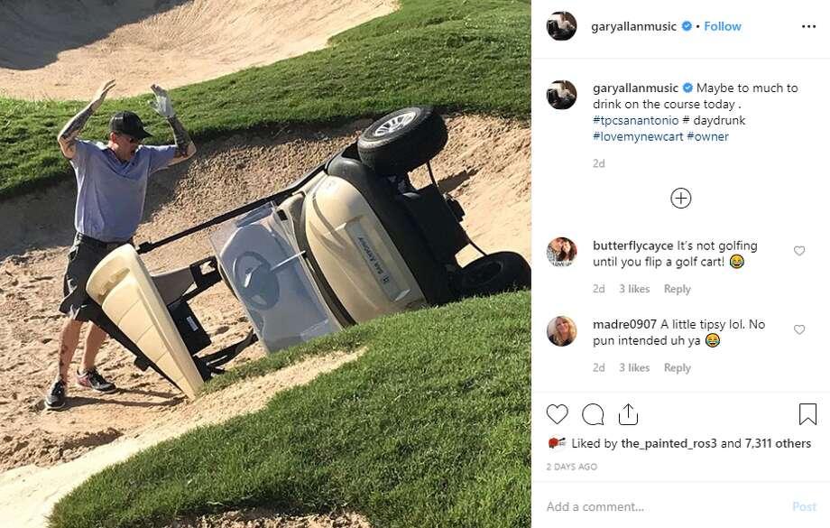 Country star Gary Allan got '#daydrunk' during San Antonio trip for