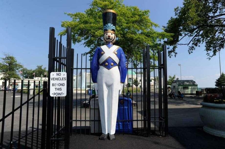 One of two toy soldiers that guard Playland in Rye, N.Y. Photo: / Helen Neafsey / Greenwich Time