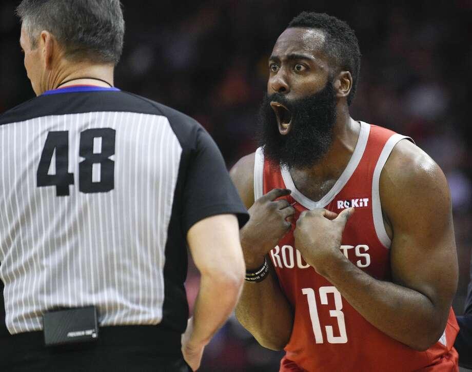 8d87b2428cd PHOTOS: Rockets vs. Warriors, Game 1 Houston Rockets guard James Harden (13