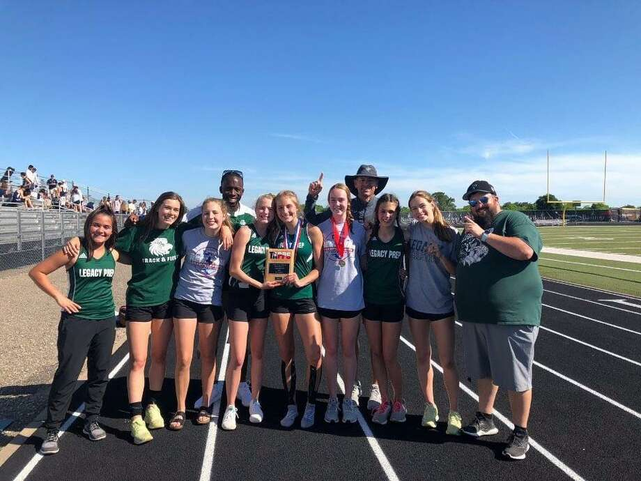 The Legacy Prep girls track and field team won the TAPPS Class 3A south Region championship over the weekend. Photo: Submitted Photo