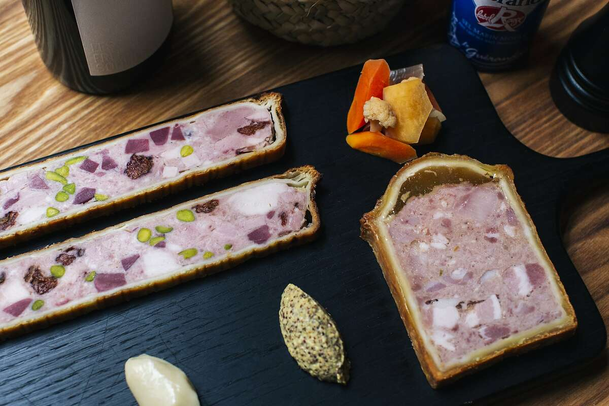 Pate En Croute photographed at Verjus in San Francisco, Calif. on Monday, April 1, 2019.