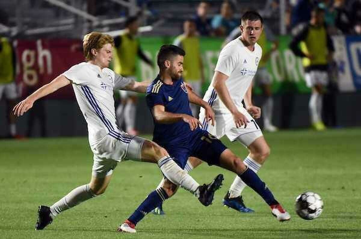 Yale's Nicky Downs will be starting at midfield for the Hartford Athletic in its inaugural home match Saturday night at Rentschler Field.