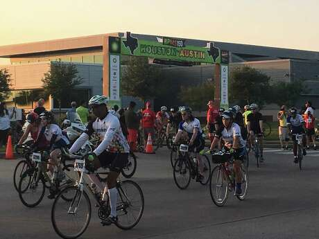 Hundreds of cyclists left before 7 a.m. April 27 from Rhodes Stadium in Katy as part of the 2019 BP MS 150. The stadium is one of three starting points for the annual fundraiser. Cyclists from Katy will bike 83.3 miles to La Grange on the first day of the two-day ride to Austin.