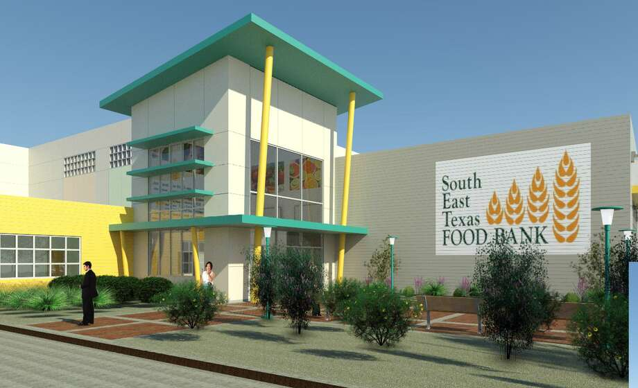While still in the design phase, the future expansion project for the Southeast Texas Food Bank could look similar to this artist rendering.  Image provided by Dan Maher