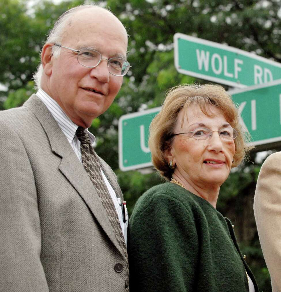 Peter and Jean Platt on Monday,Sept. 10 2007, on Wolf Rd. in Colonie, N.Y. (Will Waldron/Times Union