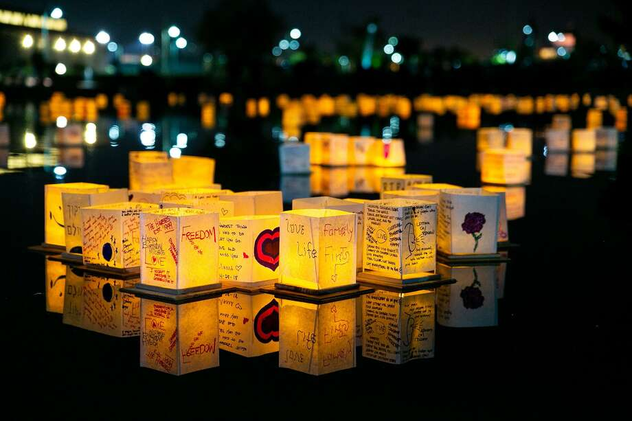A Water Lantern Festival will be held at Ives Concert Park in Danbury on May 11. Photo: Contributed Photo