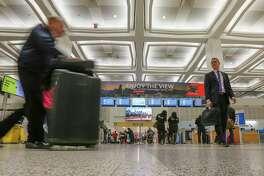 File photo shows a terminal at George Bush Intercontinental Airport.