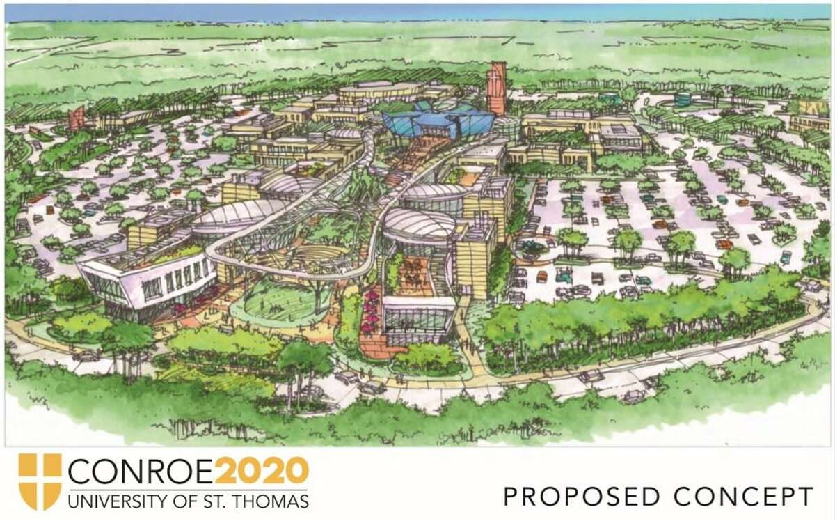 University of St. Thomas announced Monday, April 29, that it will open a campus in Conroe in Fall 2020. The rendering, pictured here, shows what the campus could look like on the proposed site of Deison Technology Park, a 264-acre park in Conroe.