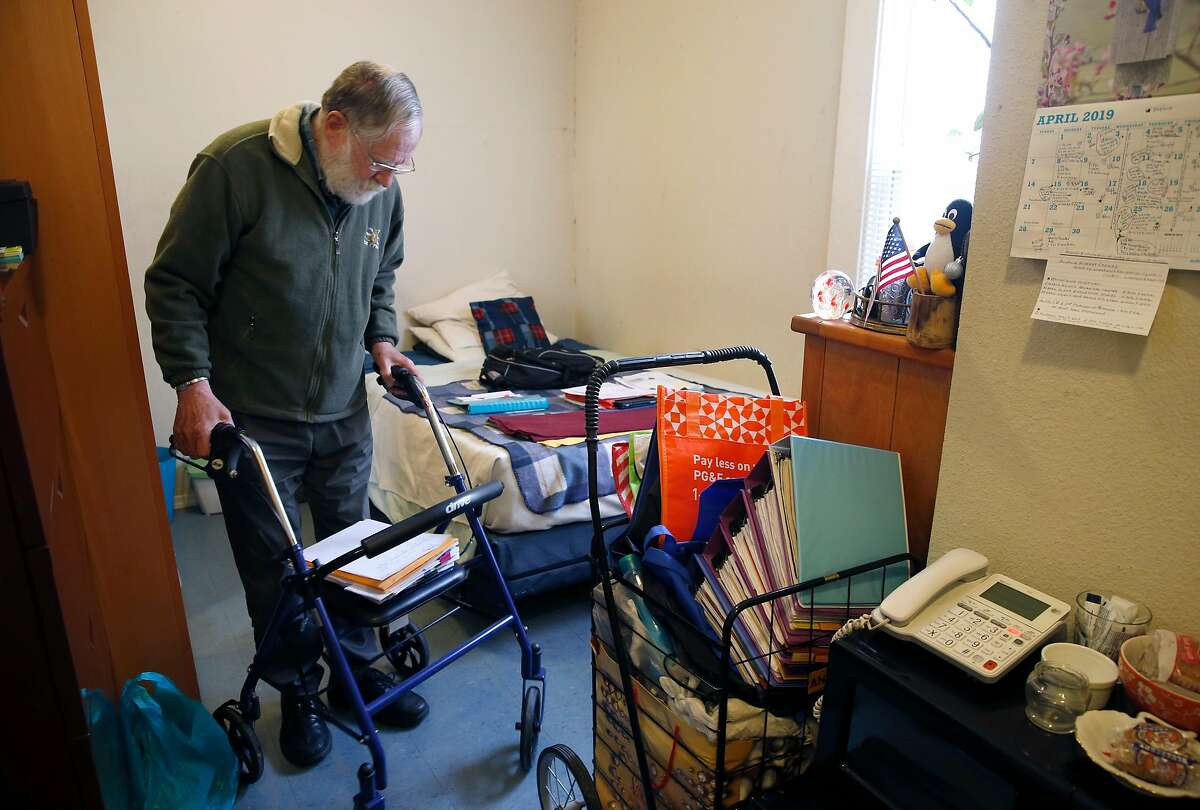 Melvin Beetle is seen in his South of Market room in San Francisco, Calif. on Tuesday, April 30, 2019. Beetle will finally be able to qualify for CalFresh benefits in June which will assure him of three meals a day.