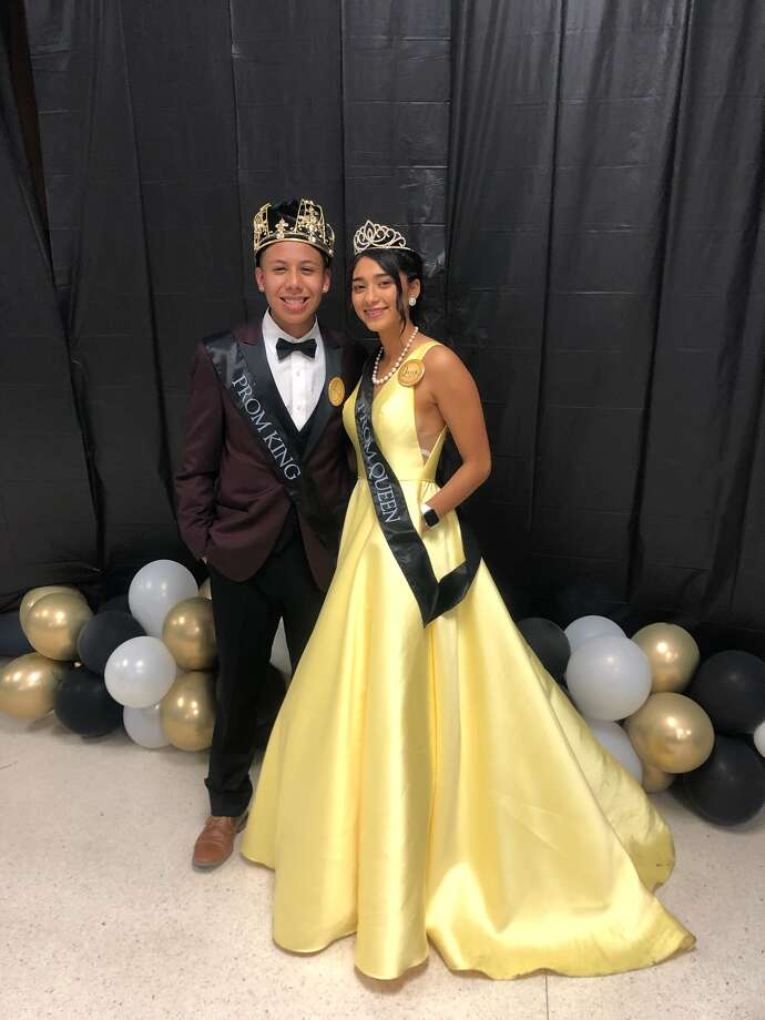 King Peter Guajardo and Queen Kayla Soto Photo: Carmen Ortega/For The Herald