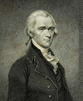 """Engraving of Alexander Hamilton, from """"The Works of Alexander Hamilton,"""" 1810."""