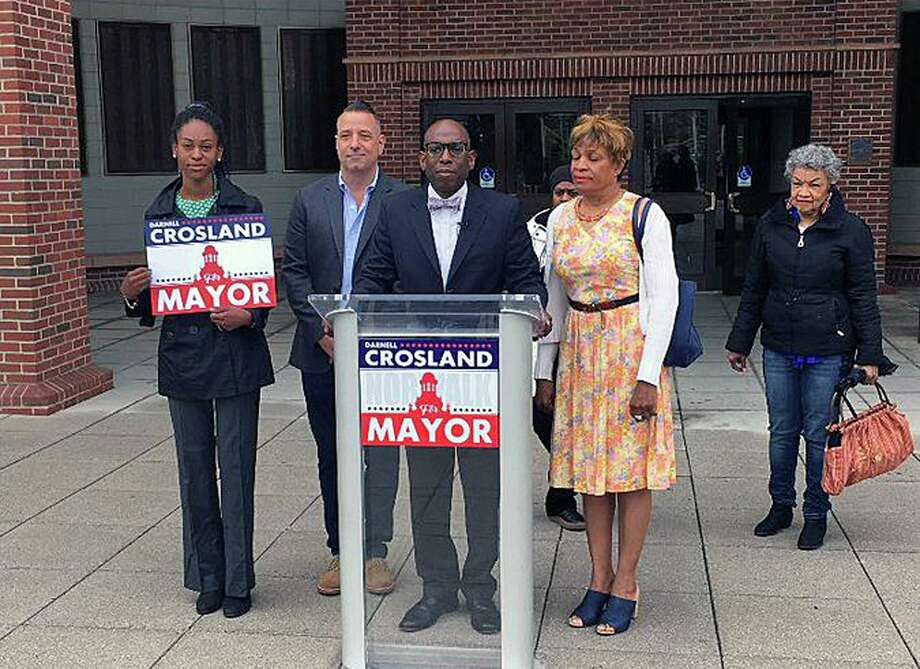 Darnell Crosland, a mayoral candidate in Norwalk, Conn., changed his party affiliation on April 30, 2019. The longtime Democrat will run for mayor as a Republican. Photo: Contributed Photo / Darnell Crosland Via Twitter / Contributed Photo / Connecticut Post Contributed