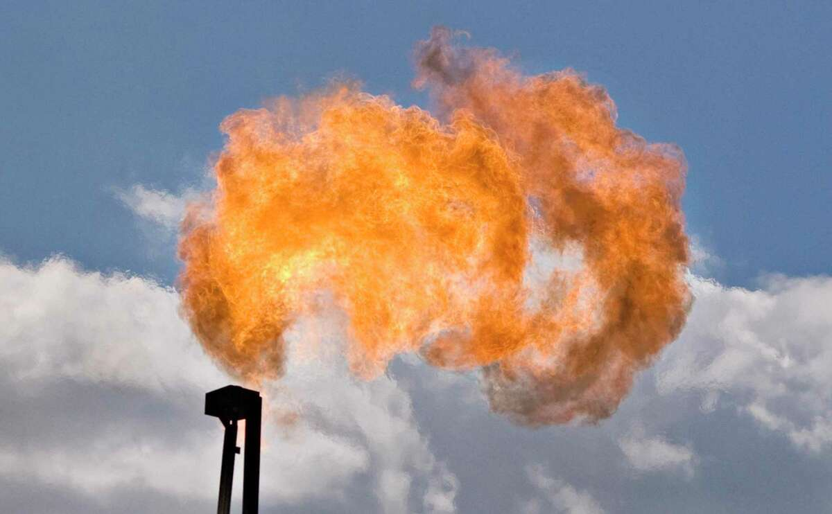 """As part of pledge to have net-zero carbon emissions by 2050, Baker Hughes has rolled out """"electric frack"""" turbines that make electricity for oilfield equipment in remote areas using natural gas that would have otherwise been burned off in an industry practice known as """"flaring."""""""