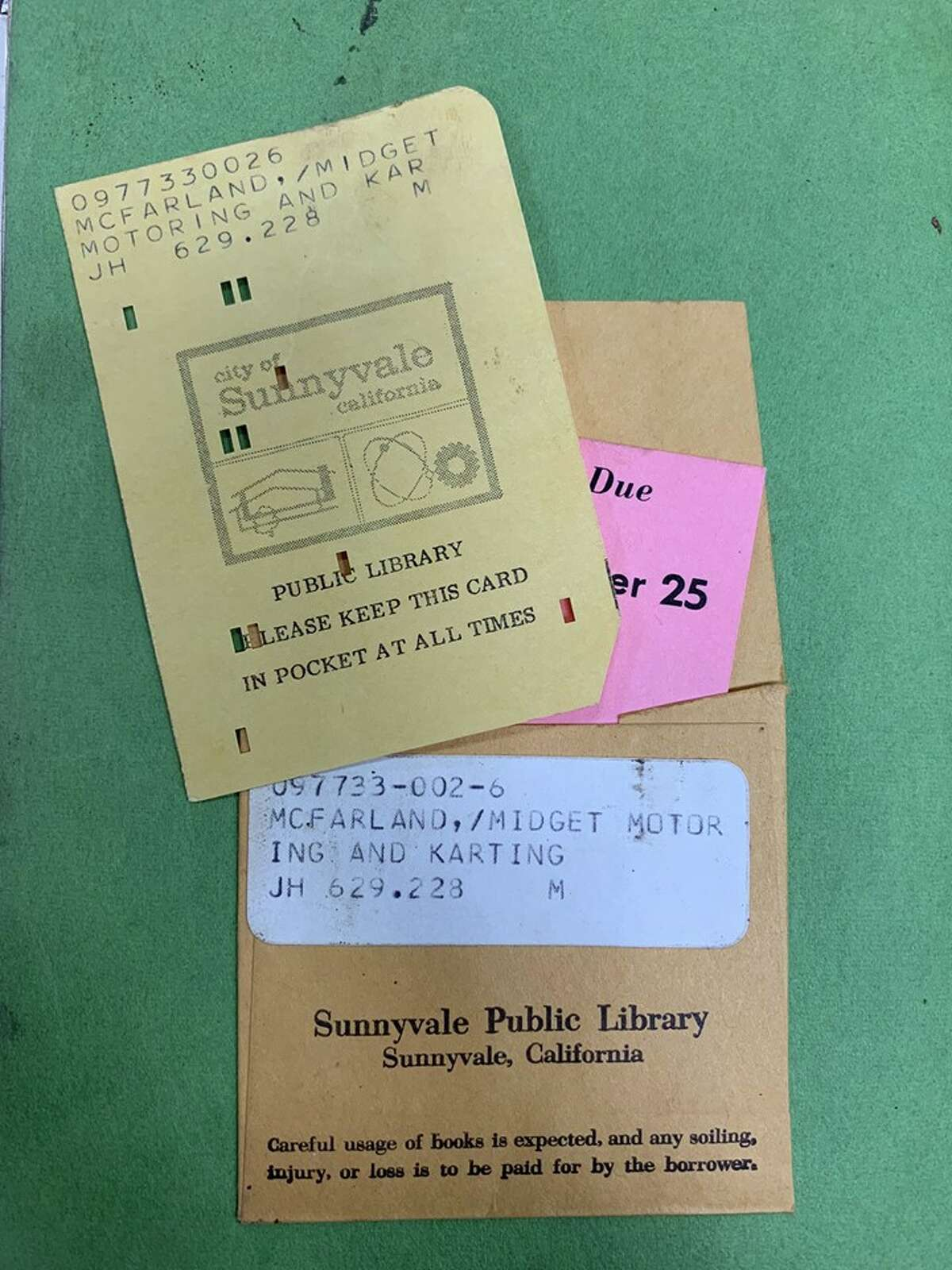 Robert Somaduroff returned an overdue book to the Sunnyvale Public Library last week, 45 years after first taking it out.
