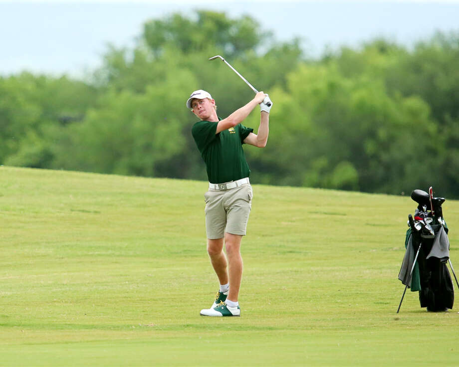 Midland College's Callum Bruce  is shown in action during the NJCAA District 2 Championship at Abilene's Diamondback Golf Course. Photo: Forrest Allen| MC Athletics