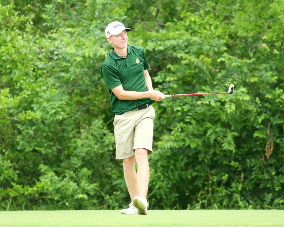 Midland College's George Saunders  is shown in action during the NJCAA District 2 Championship at Abilene's Diamondback Golf Course. Photo: Forrest Allen| MC Athletics