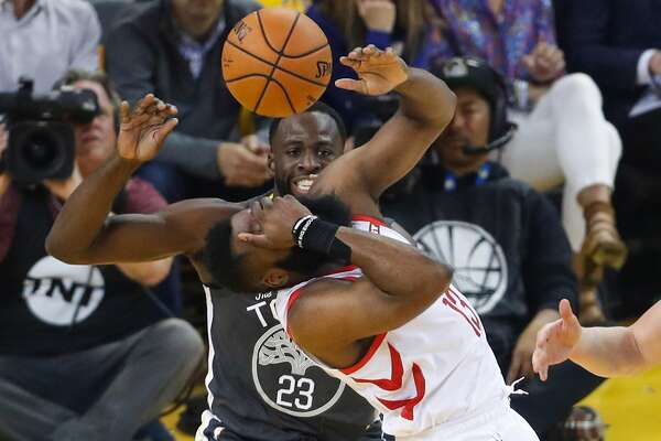 49c0557aa37 2of3Houston Rockets James Harden reacts after getting hit in the face in  the first quarter during game 2 of the Western Conference Semifinals  between the ...
