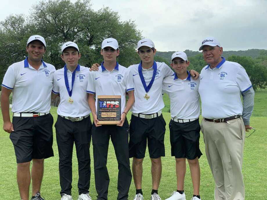 The St. Augustine golf team placed second at the state TAPPS 5A tournament Tuesday. Photo: Courtesy Of St. Augustine Athletics
