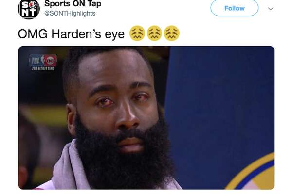 e7b7c070061a 1of20James Harden s bloodshot eyes terrified a number of Twitter users and  became a meme.Photo  Twitter