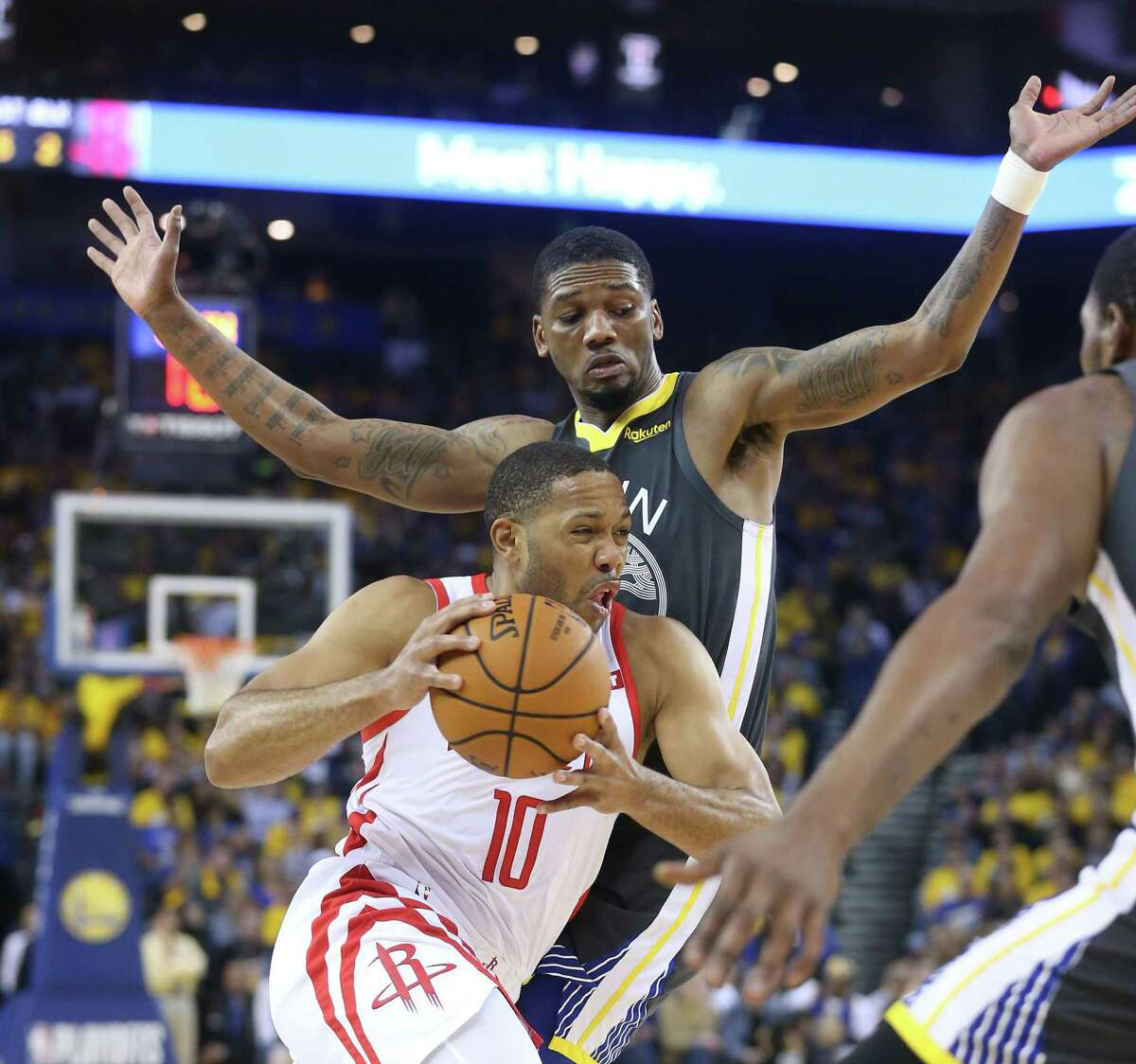 Rockets guard Eric Gordon has had a big impact through the first three games of the Western Conference semifinal series against the Warriors.