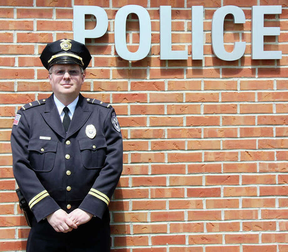 Lt. Mark Foley as he appeared Monday, outside of the Glen Carbon Police Department. He resigns May 14, the same day he will be sworn-in as a village trustee. Photo: Charles Bolinger | The Intelligencer
