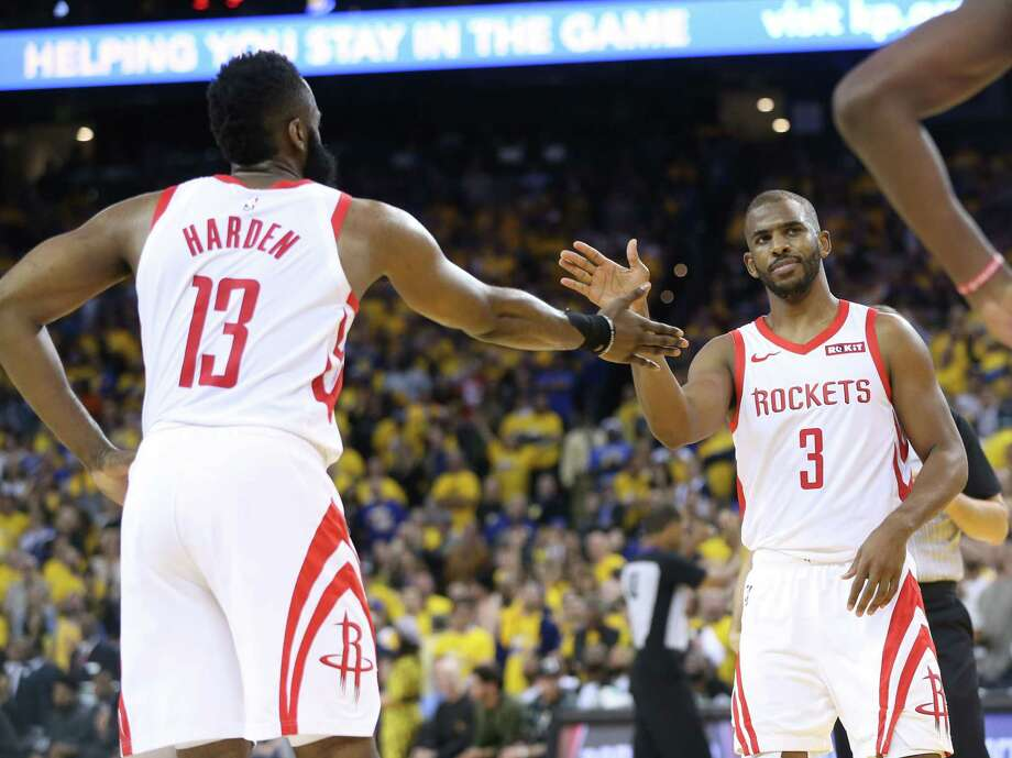 PHOTOS: Each Rockets player's contract heading into the 2019-20 season Rockets cornerstones James Harden and Chris Paul are locked up for several years, but what about the rest of the roster? Browse through the photos above for a look at the contract situation for each Rockets player heading into the 2019-20 season ... Photo: Elizabeth Conley, Staff Photographer / © 2019 Houston Chronicle