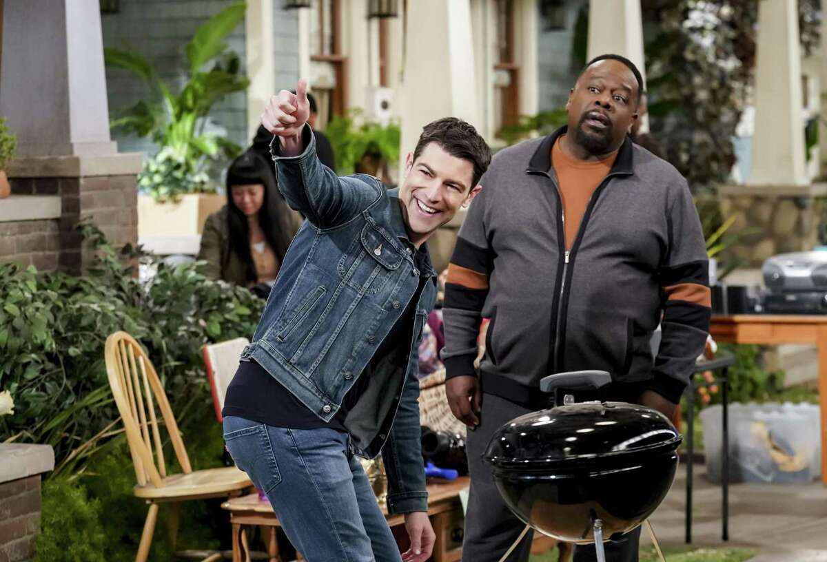 Max Greenfield (Dave Johnson) and Cedric the Entertainer (Calvin Butler) in