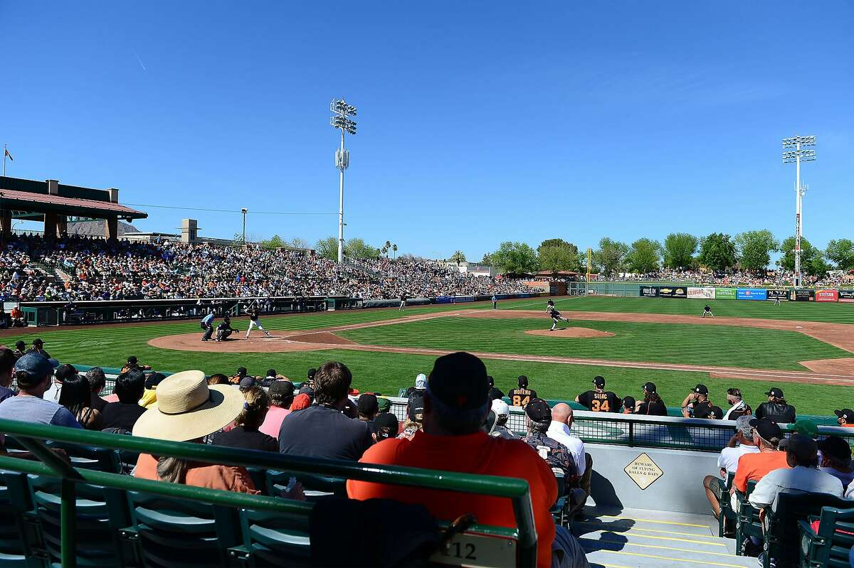 SCOTTSDALE, AZ - MARCH 09: General view of the spring training game between the Colorado Rockies and the San Francisco Giants at Scottsdale Stadium on March 9, 2016 in Scottsdale, Arizona. (Photo by Jennifer Stewart/Getty Images)