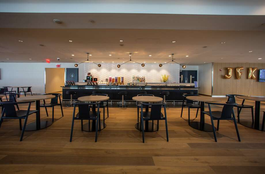 A look inside British Airways nice new business class Club lounge at New York JFK Photo: British Airways
