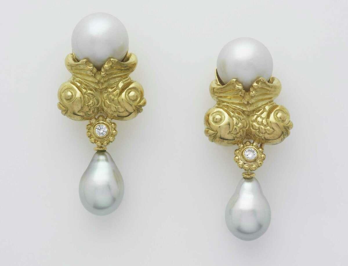 Twin Fish 18-carat earrings, $12,960