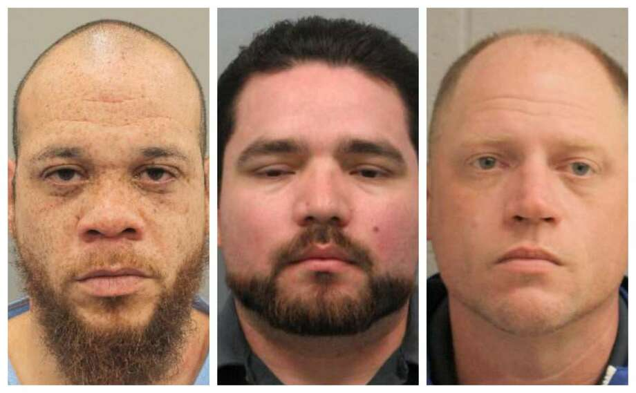 The two victims told police the men allegedly abused them by beating them with machetes and belts, forcing them to drink liquor and snort cocaine, wrapping them in plastic that was staple gunned to their bodies and hogtying them with extension cords, court records show. Photo: Harris County Precinct 4 Constable Mark Herman