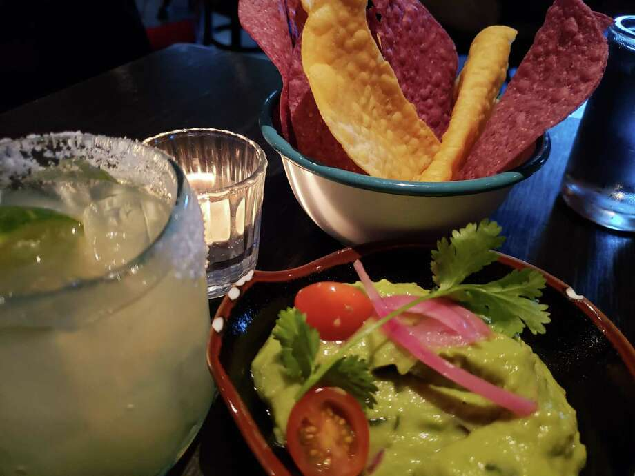 Guacamole and a margarita to celebrate Cinco de Mayo. Photo: Frank Whitman / For Hearst Connecticut Media / Norwalk Hour freelance